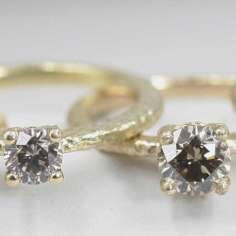 Victoria Coloured Diamond Solitaire Ring .25ct