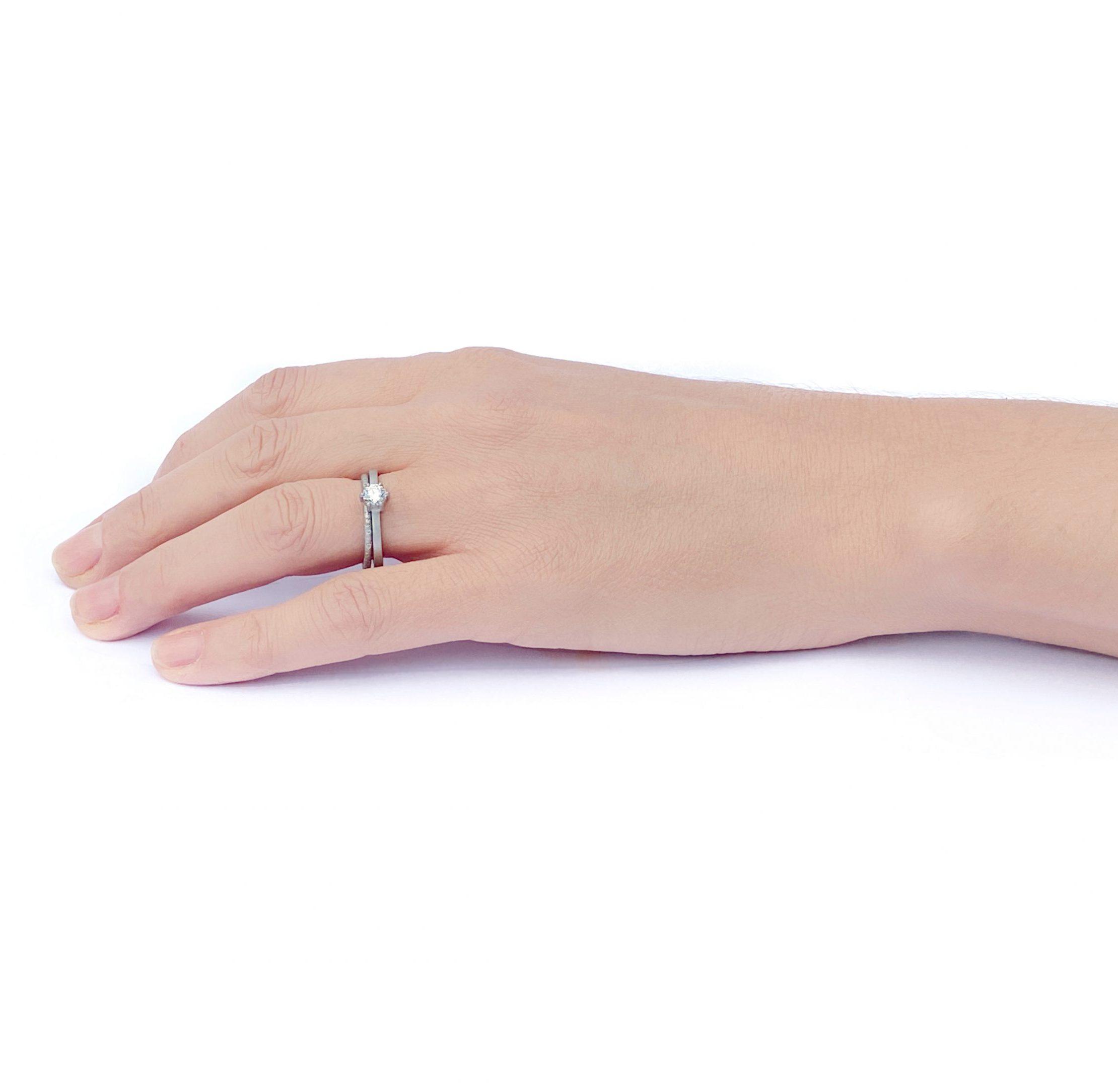 Diamond Scattered Platinum Eternity Ring 1.5mm