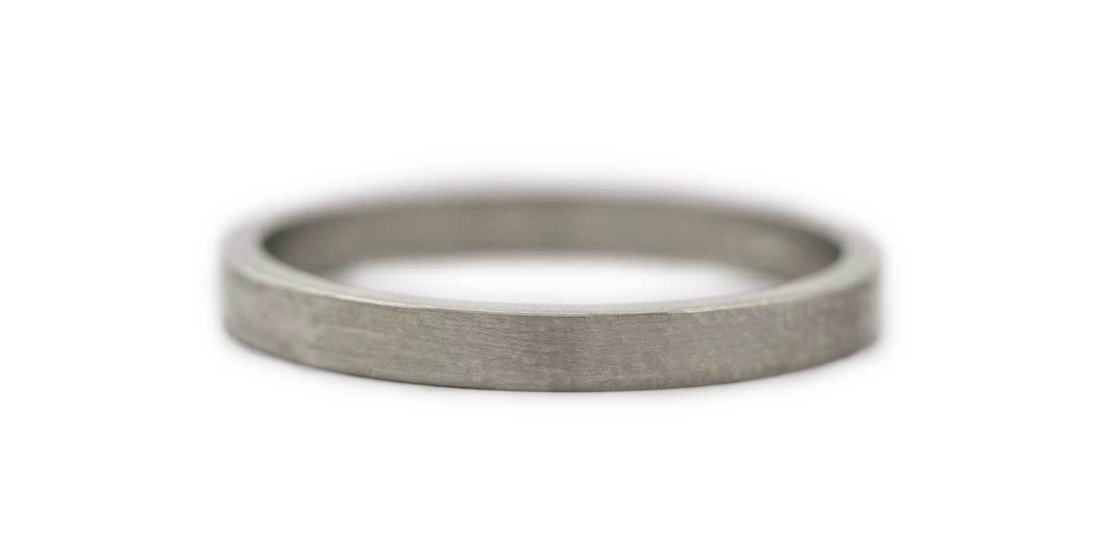 Fine Flat Band – 18ct White Gold