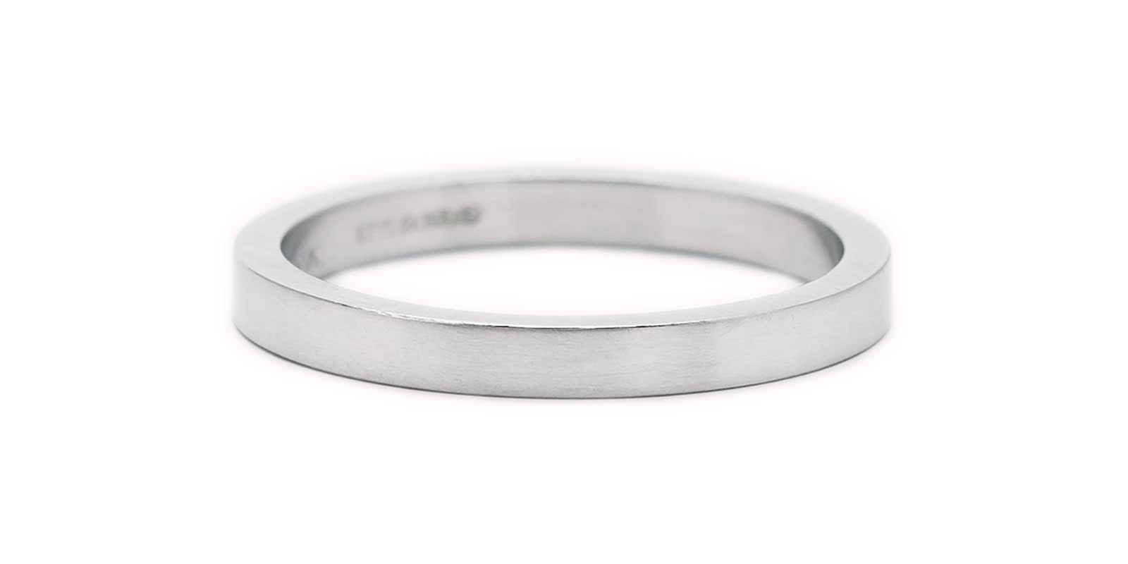 Fine Flat Band – Platinum 950