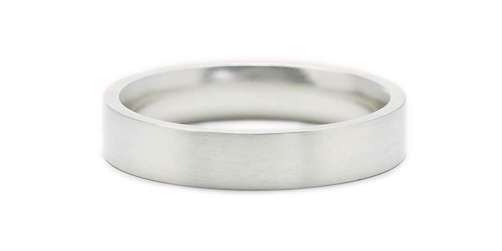 Flat Court Shaped Platinum Band
