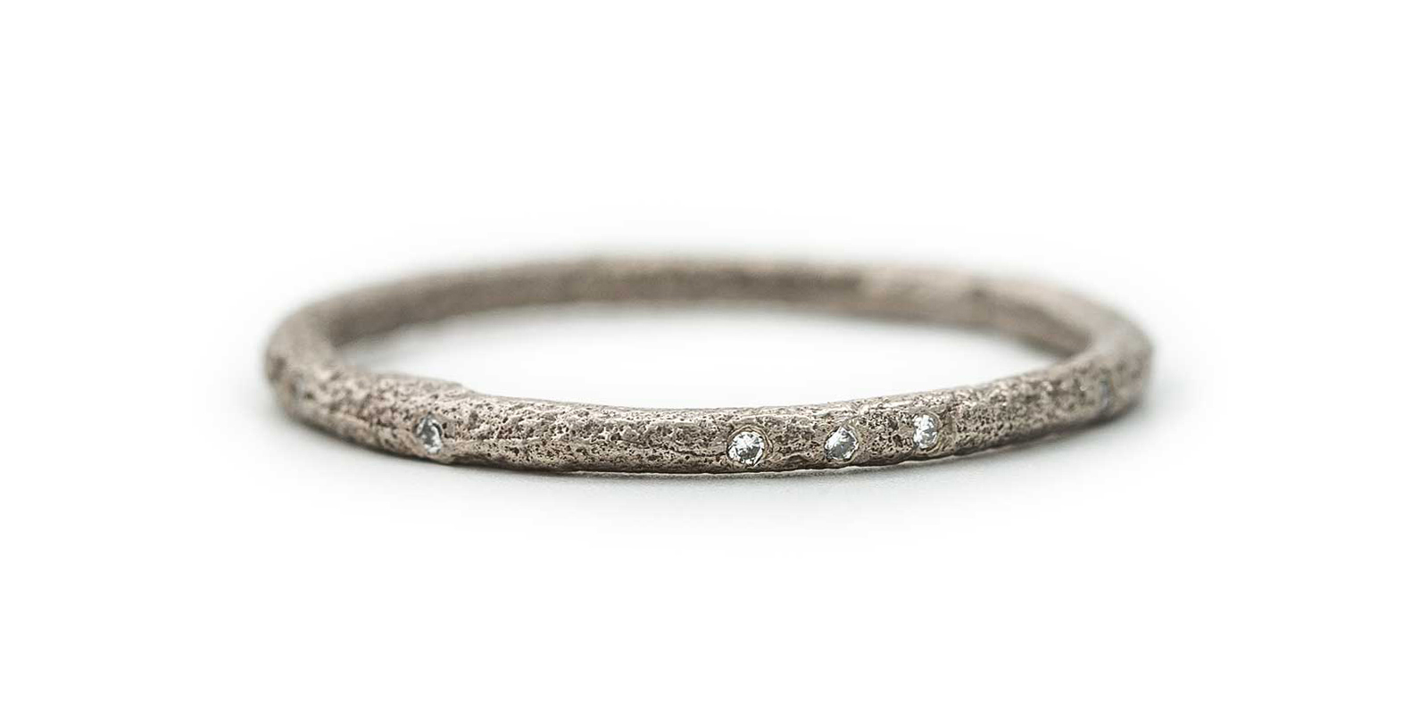 Scattered Eternity Ring – White Diamond, 18ct White Gold