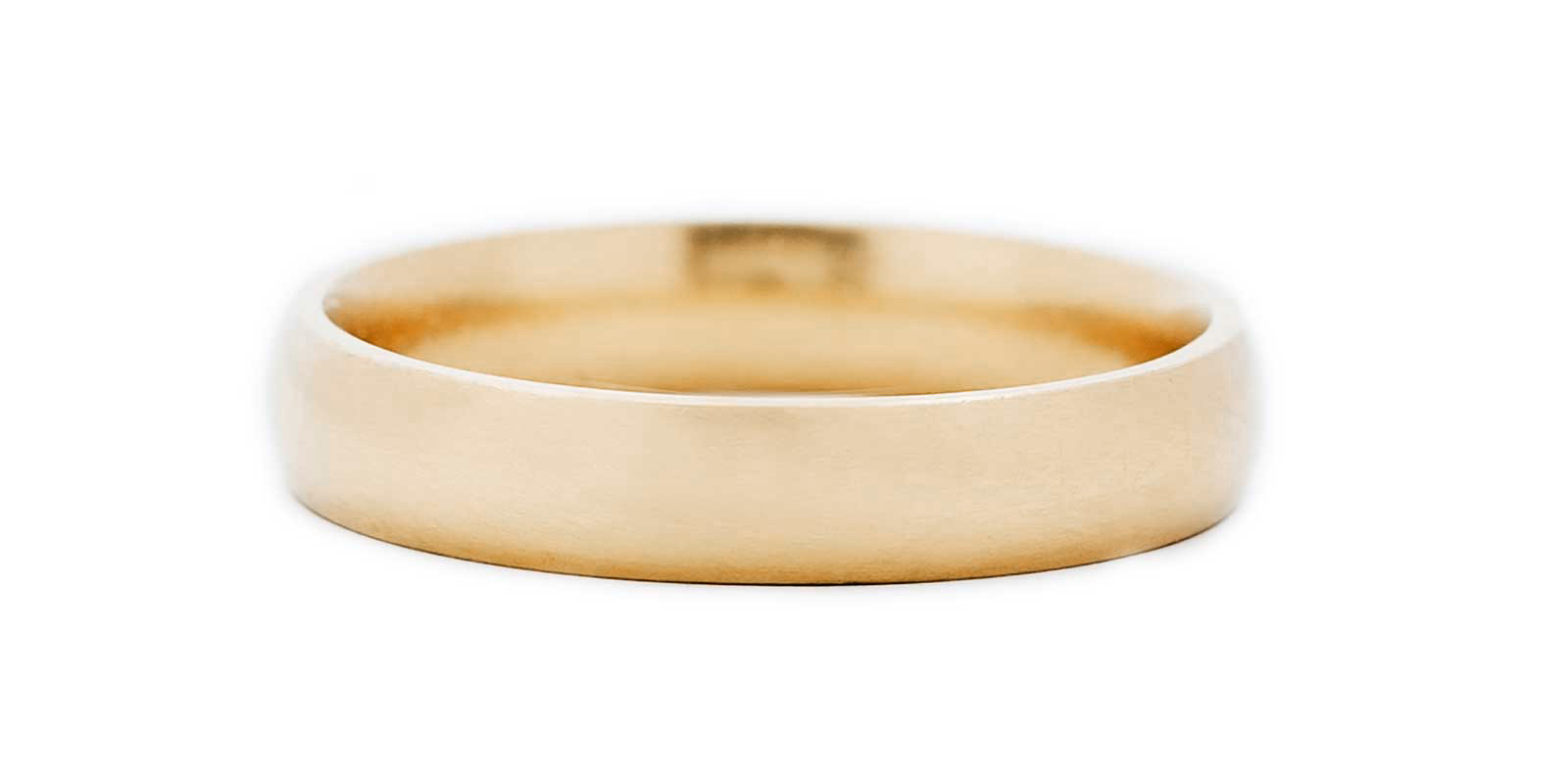 Court Shaped Gold Band