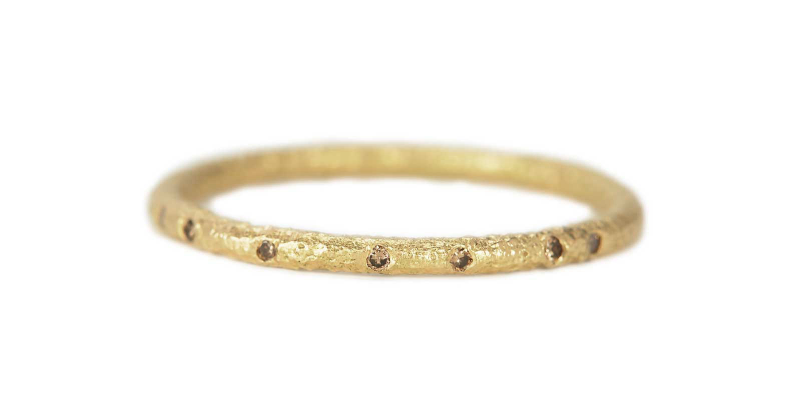 Scattered Eternity Ring – Champagne Diamond, 18ct Yellow Gold