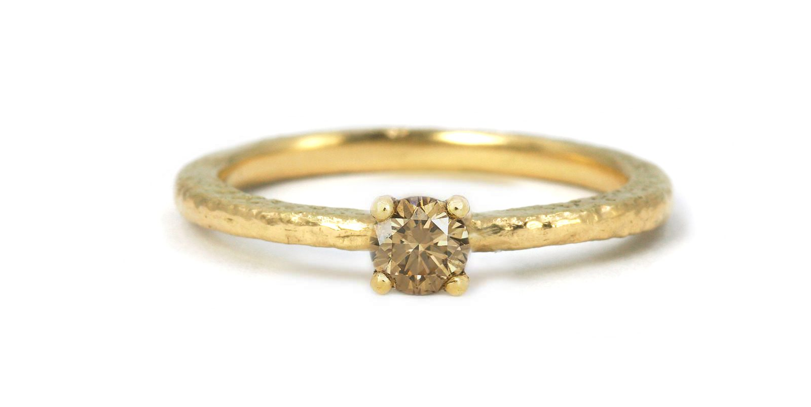 Victoria Coloured Diamond Solitaire Ring .25ct
