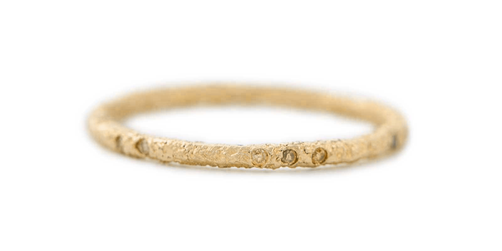 Yellow Diamond Scattered 18ct Gold Eternity Ring 1.5mm