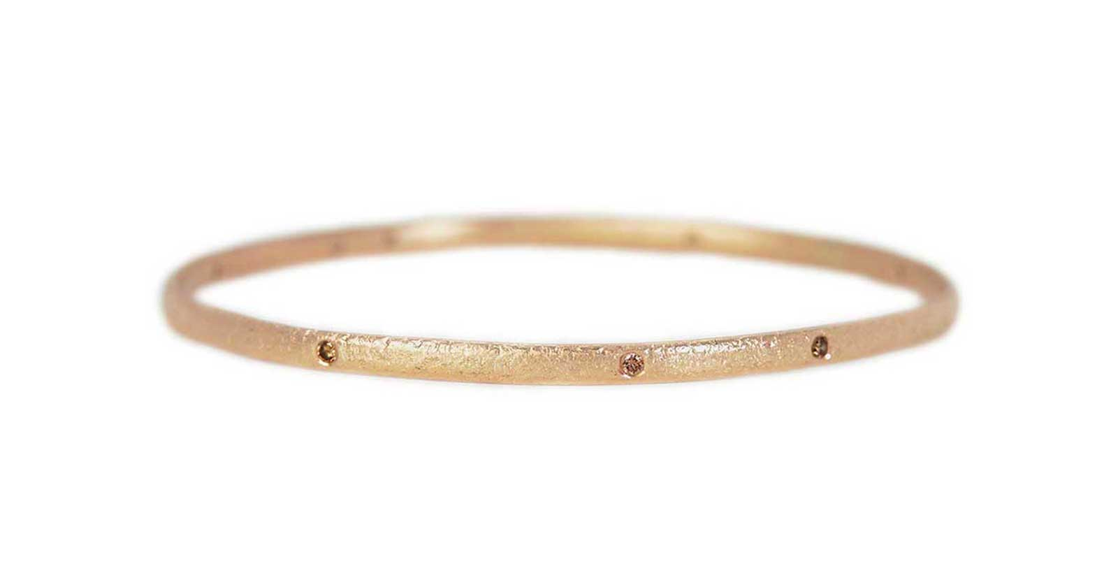 Diamond Textured Bangle