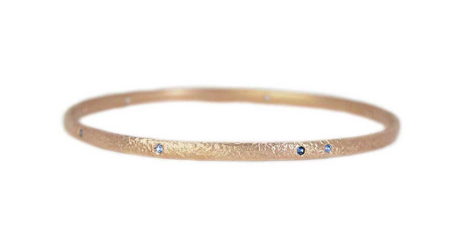 Sapphire Textured Bangle