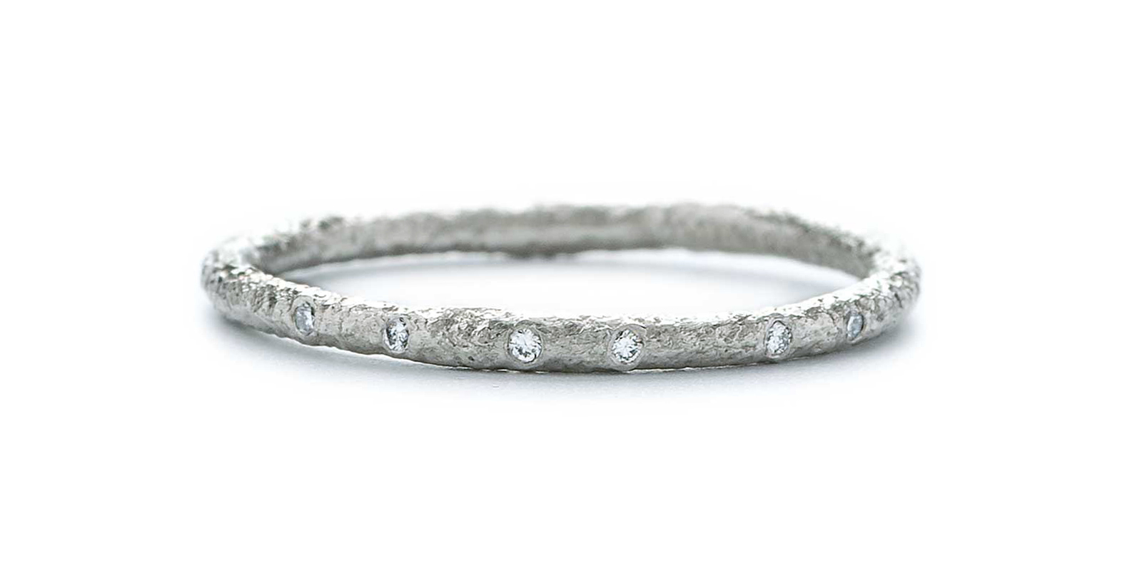 Diamond Scattered Platinum Eternity Ring 1.5mm