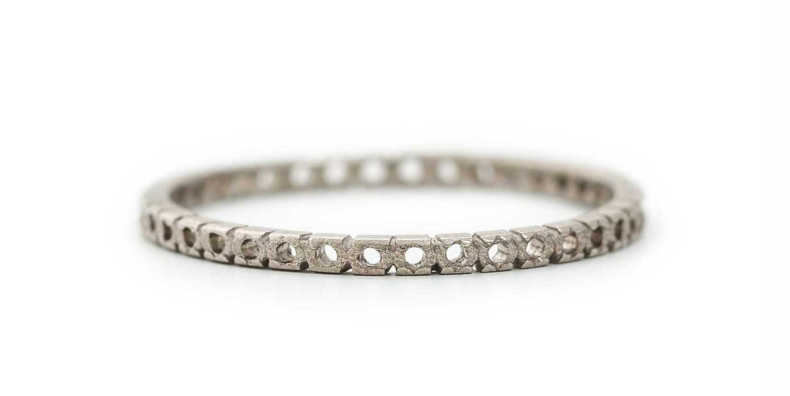 Open Eternity Ring – 18ct White Gold