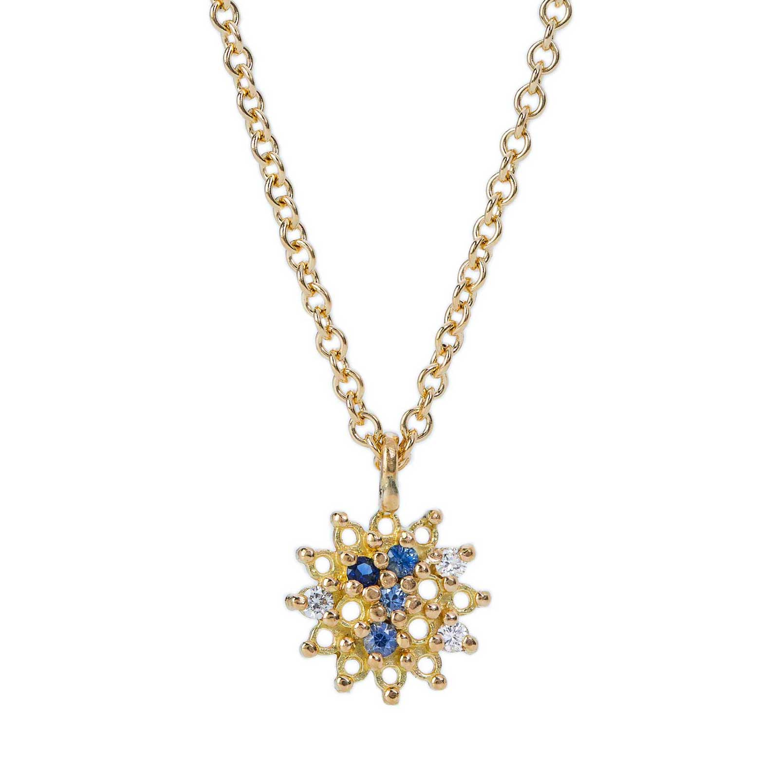 Sapphire and diamond Star Pendant