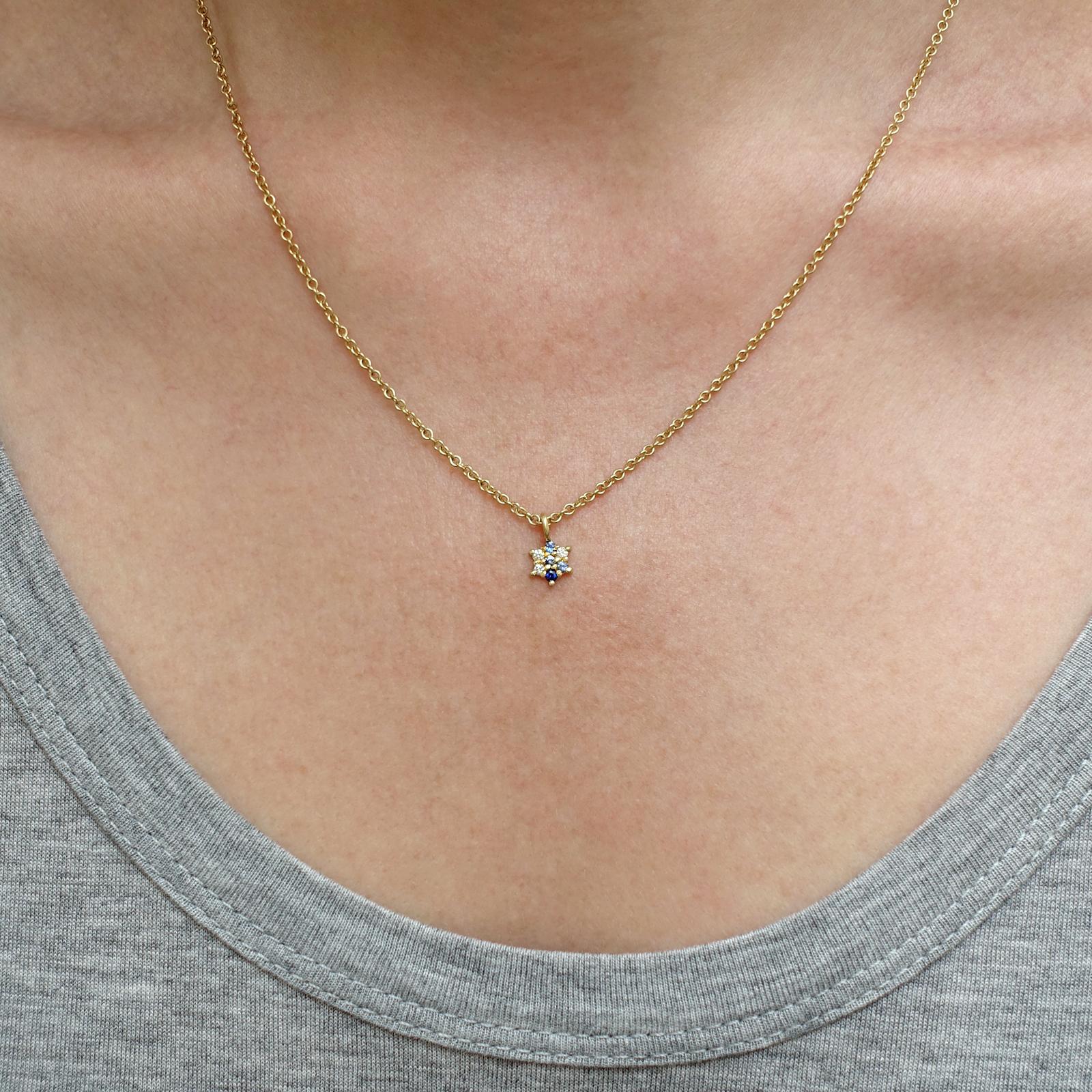 Dancing Star Sapphire and Diamond Pendant