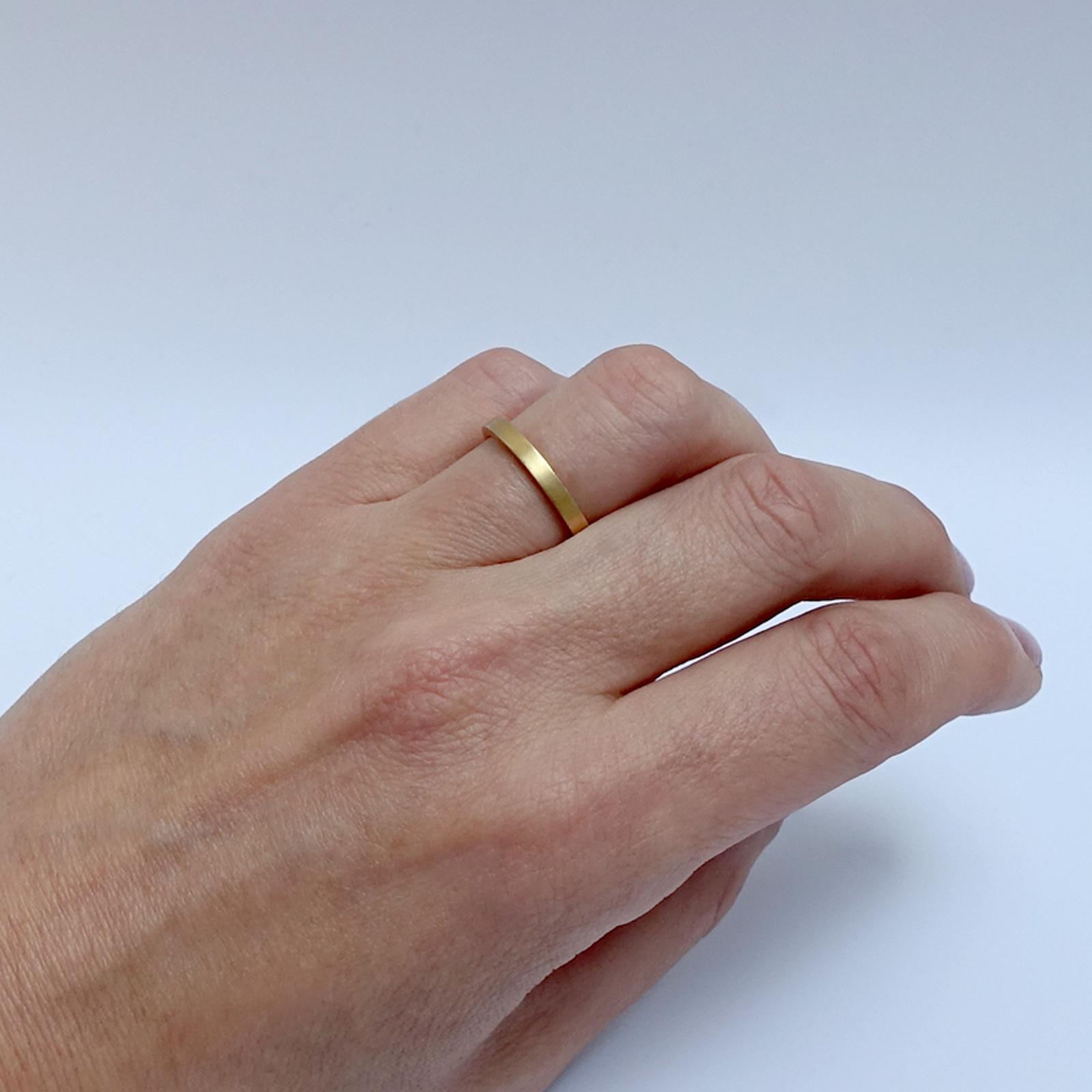 Fine Flat Band – 18ct Yellow Gold