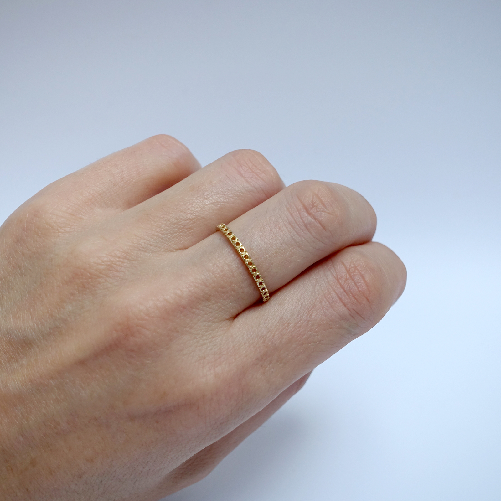 Open Eternity Ring -18ct Yellow Gold