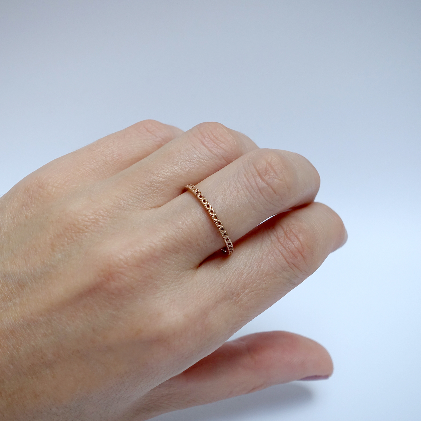 Open Eternity Ring – 18ct Rose Gold