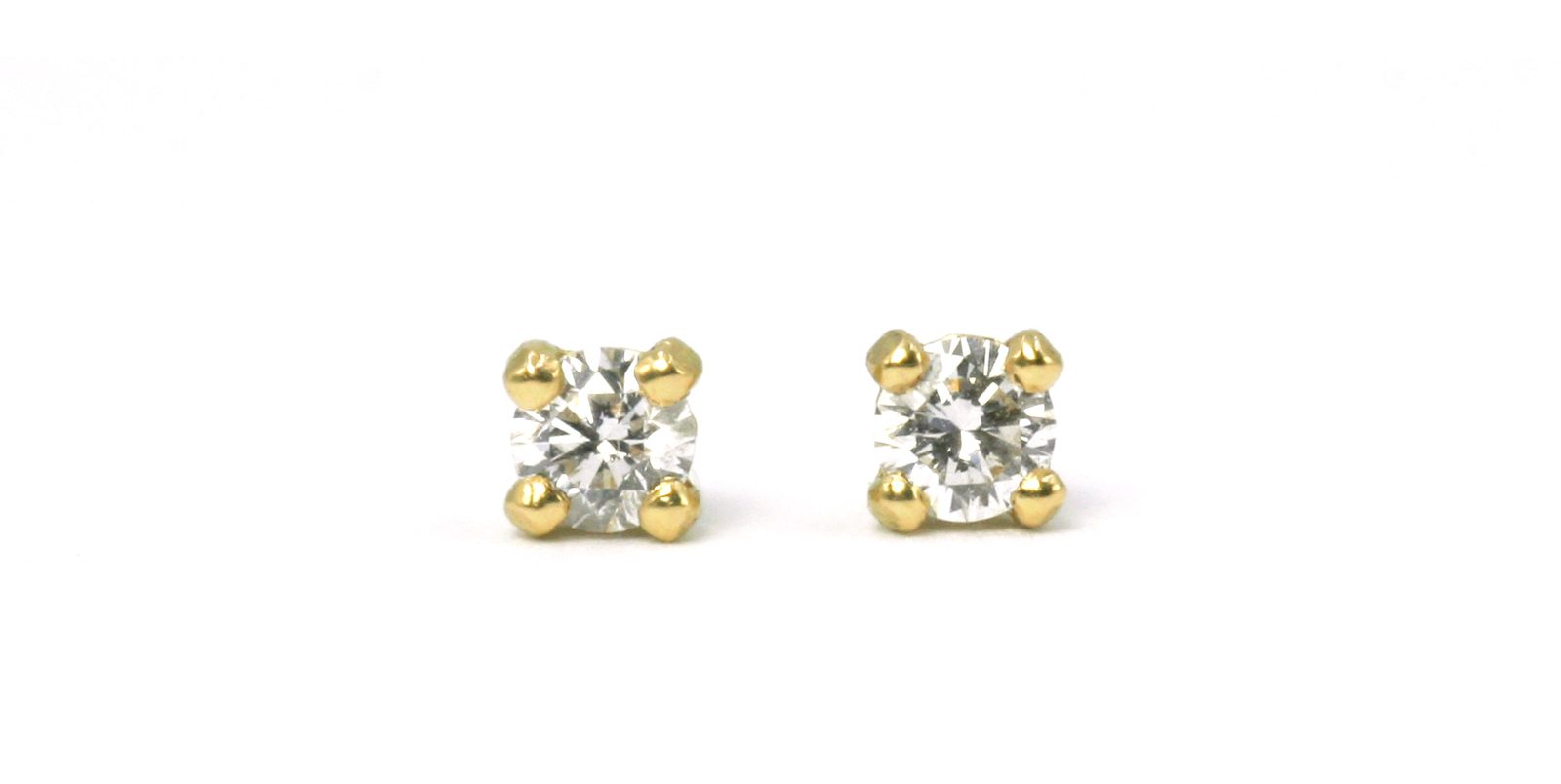 Summer Diamond & 18ct Gold Stud Earrings