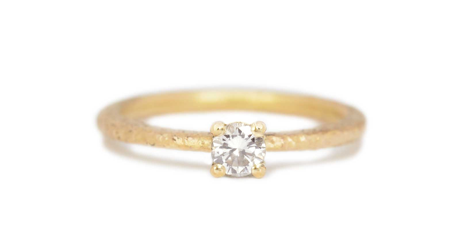 Victoria White Diamond Solitaire Ring .25ct