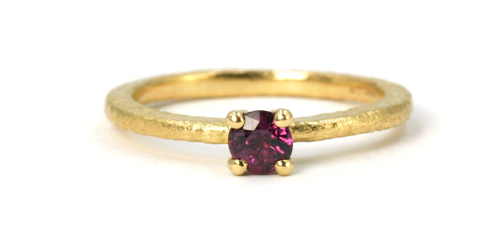 Victoria Ruby Solitaire Ring