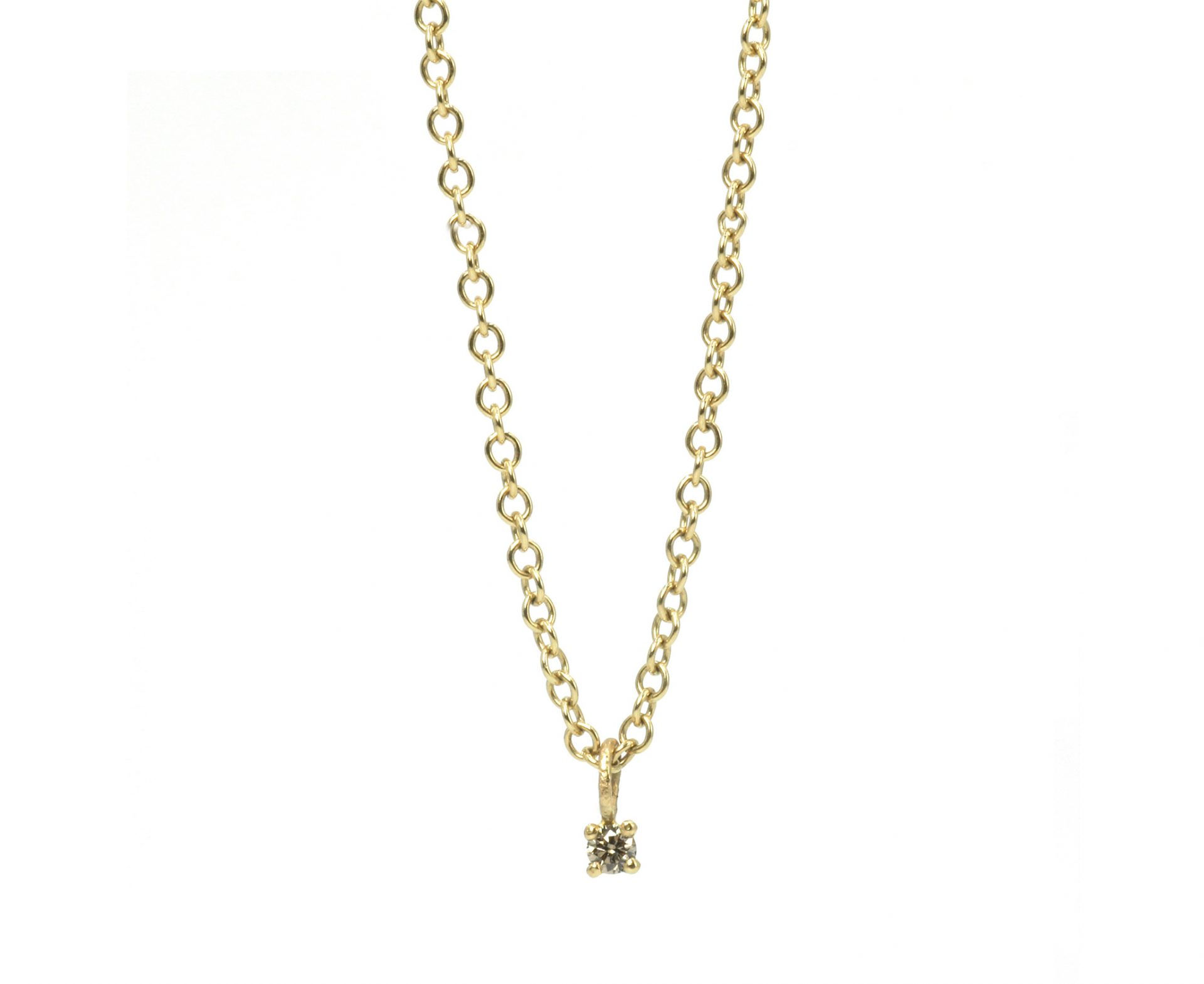 Summer Diamond & 18ct Gold Pendant 3mm
