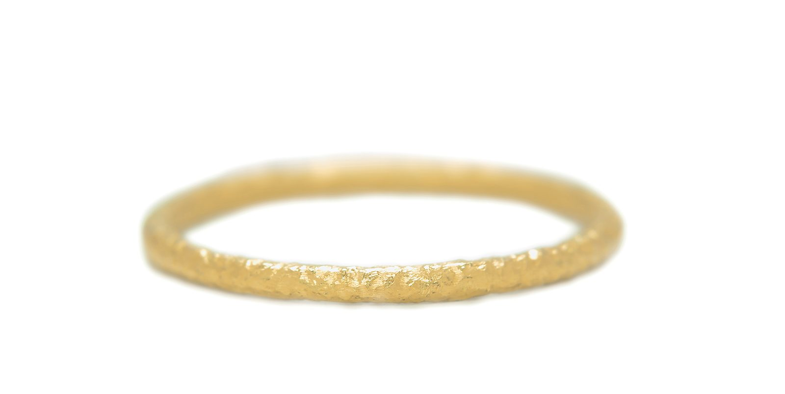 Textured Gold Ring 1.5mm
