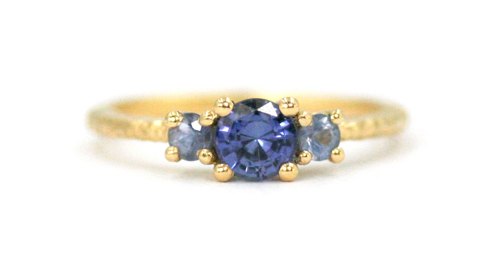 Three Stone Cluster Ring