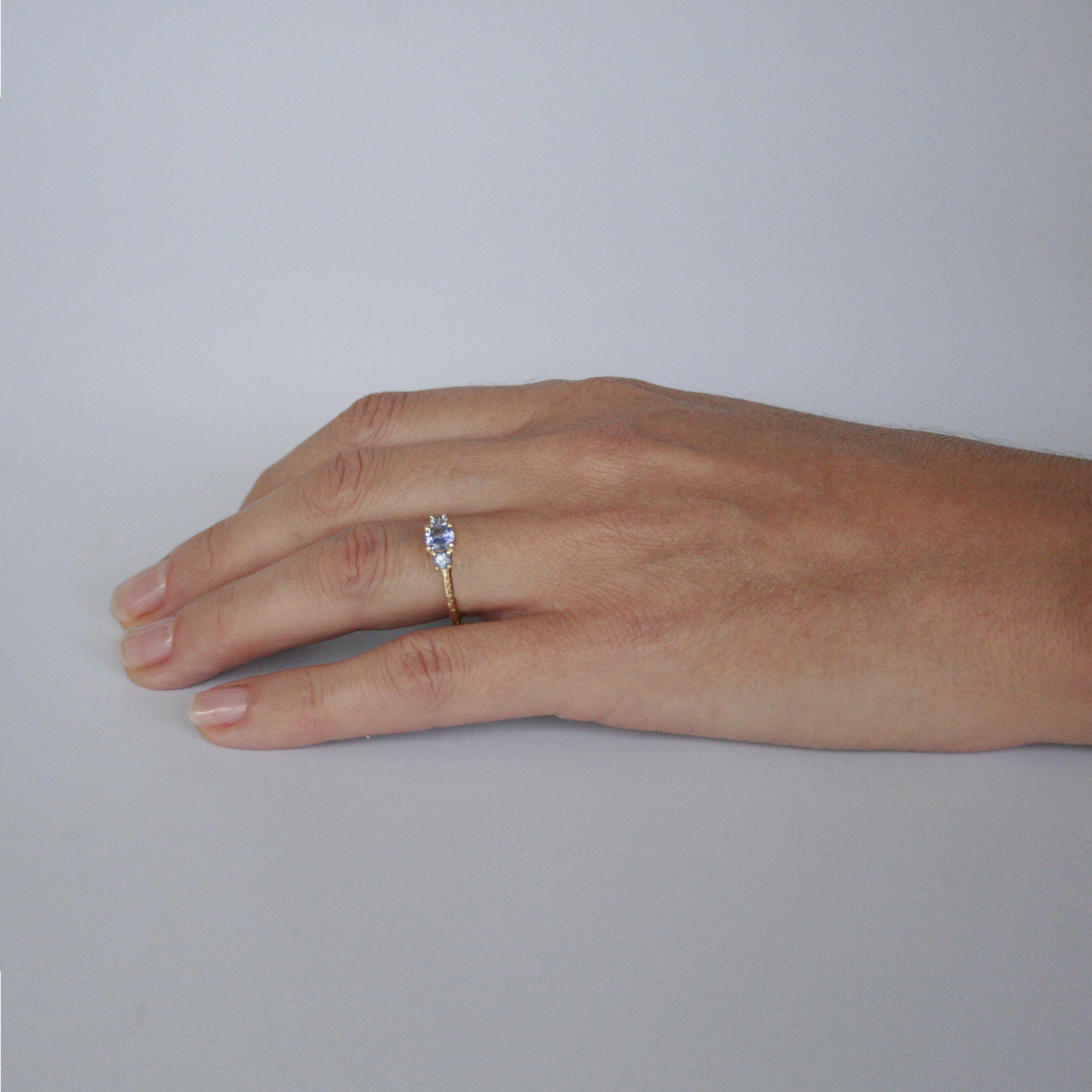 Three Stone Cluster Ring