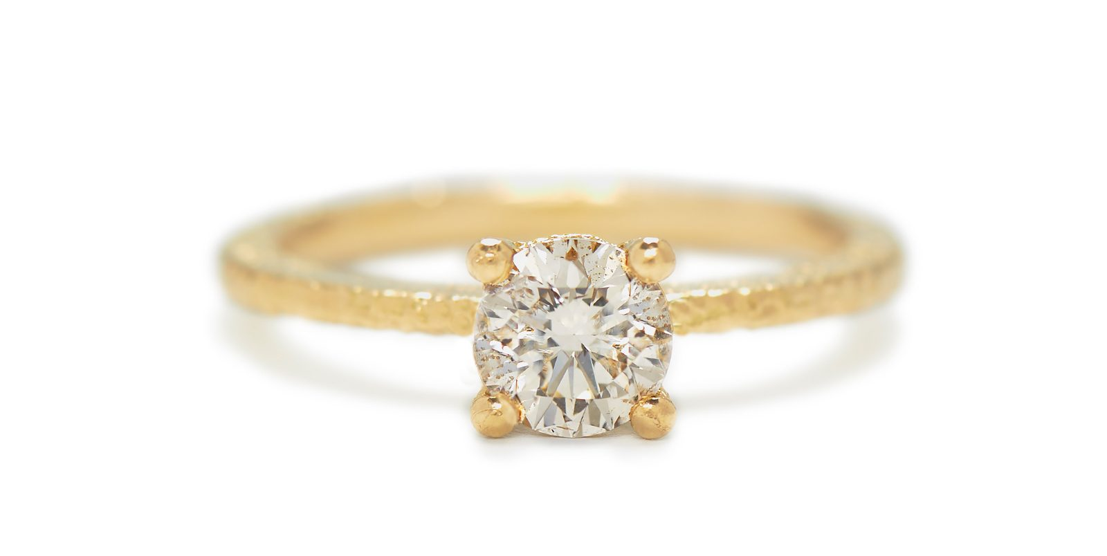 Una Coloured Diamond Solitaire Ring .5ct