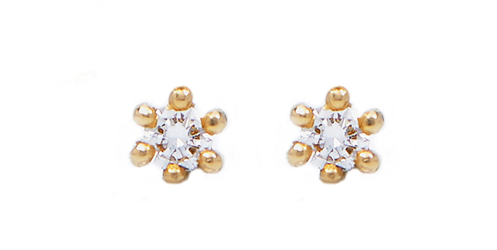 Spring Diamond Stud Earrings