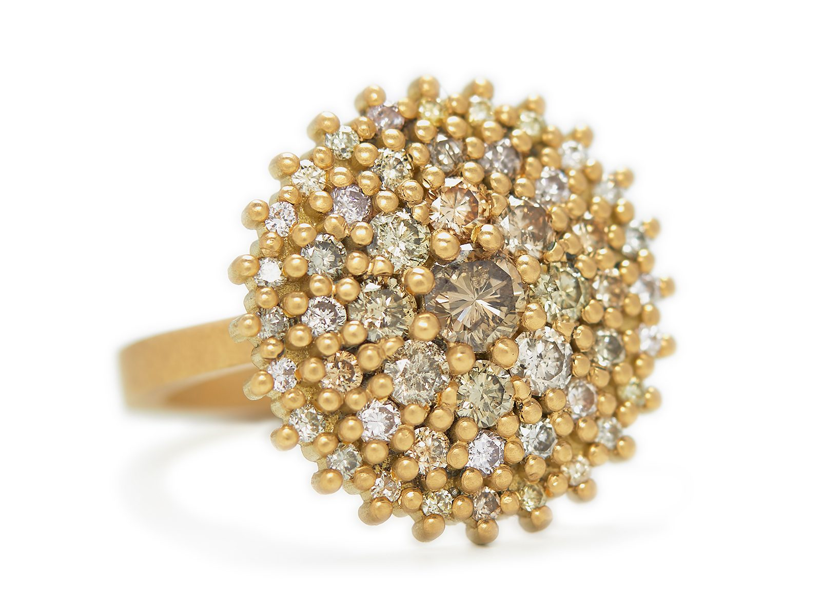 Cornelia Coloured Diamond Cocktail Ring