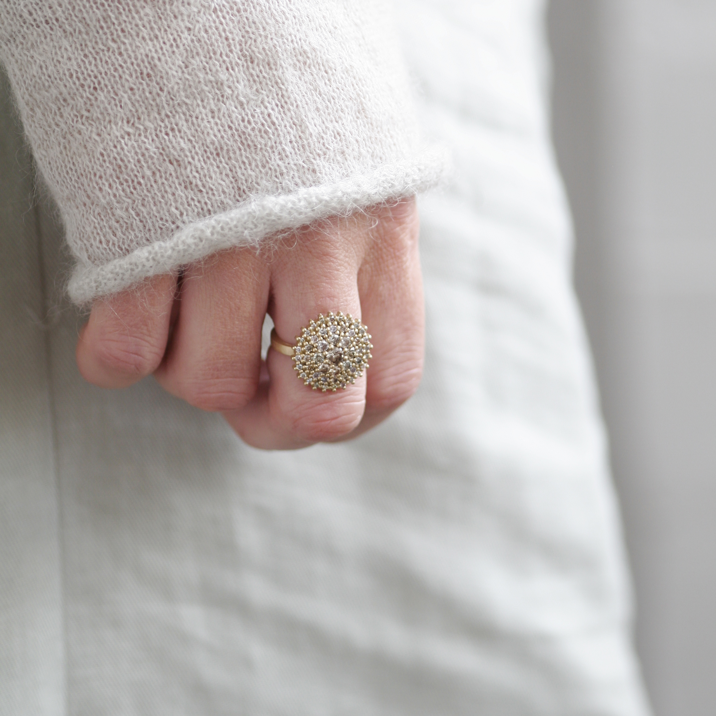 Kathrine 18ct Gold and Diamond Chandelier Cocktail Ring