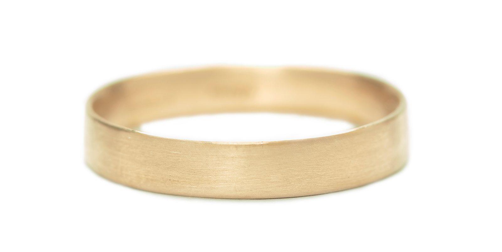 Slim Matte 18ct Yellow Gold Wedding Ring