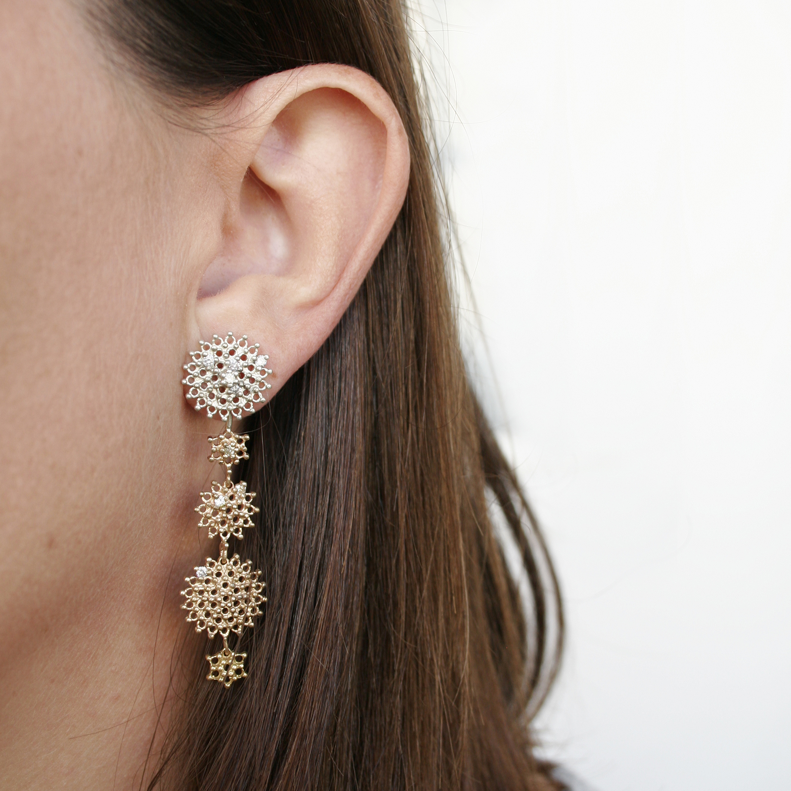 Graduated Day and Night Earring