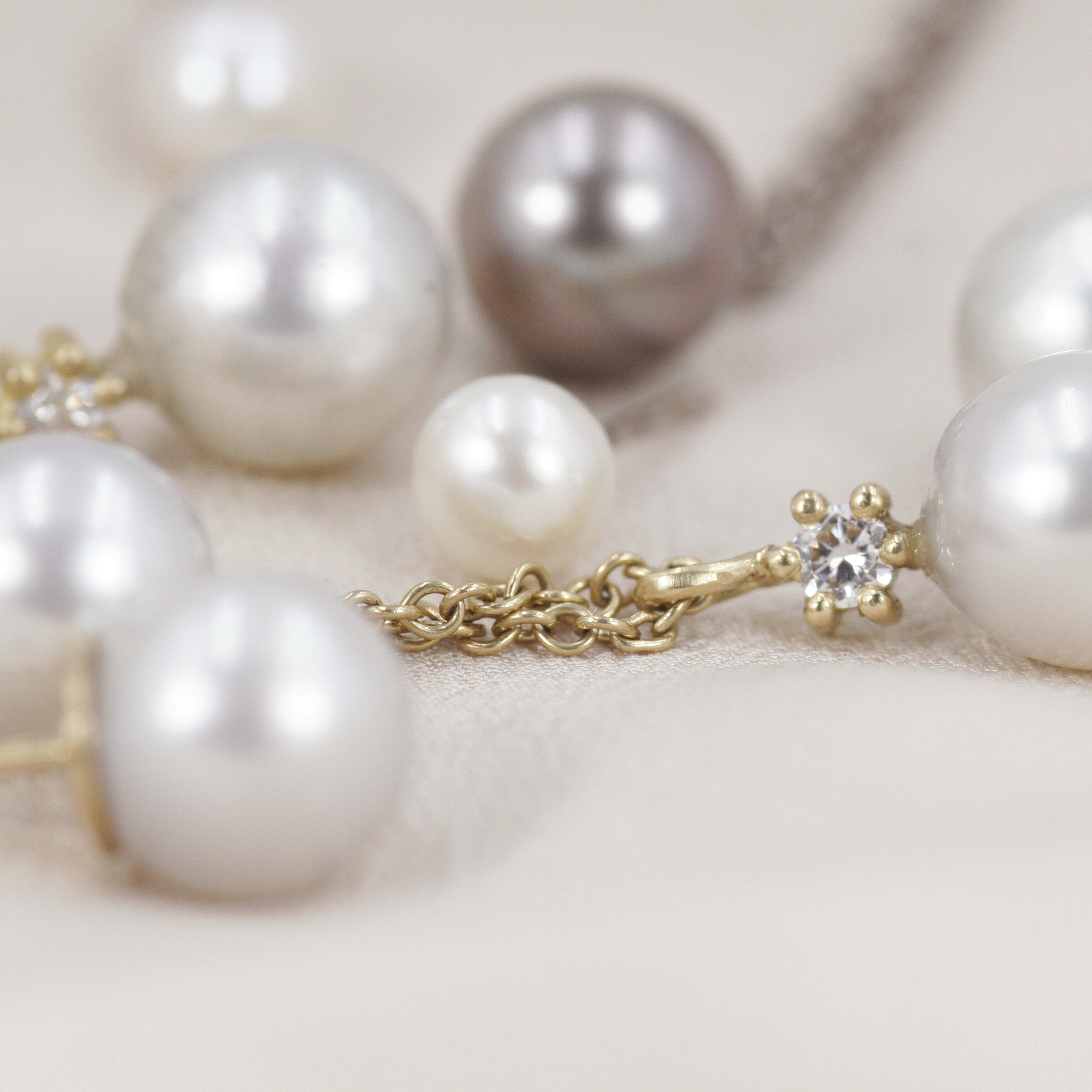 Dreamer Pearl and Diamond Pendant