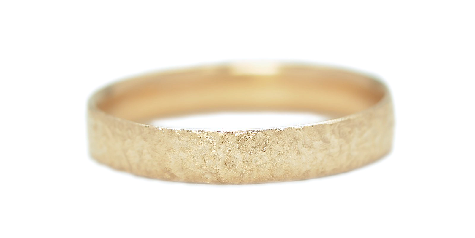Textured 18ct Yellow Gold Wedding Band 4mm