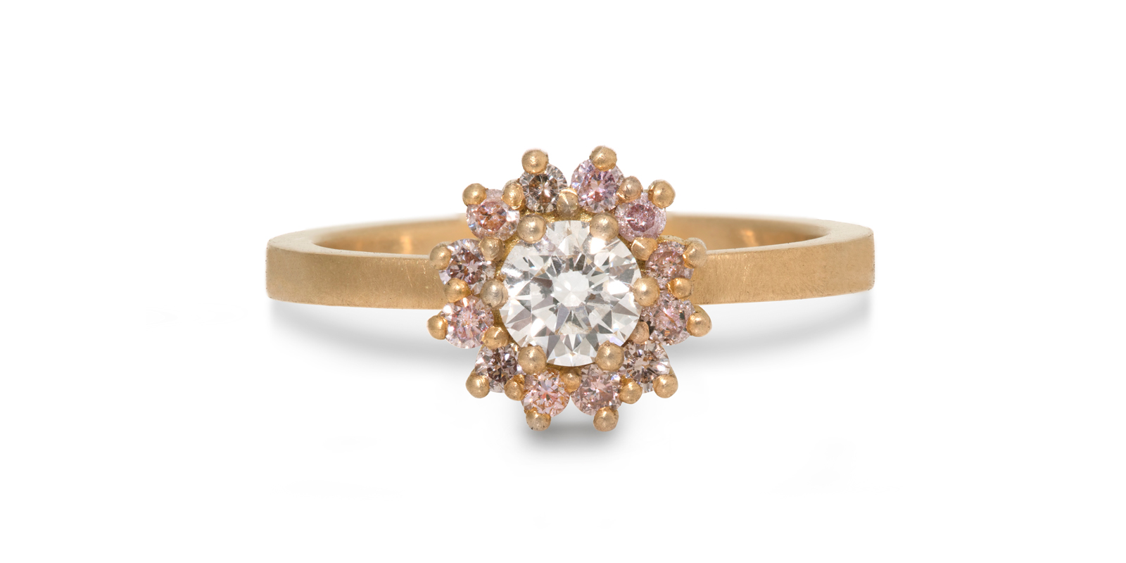 Juliet Pink Diamond Engagement Ring