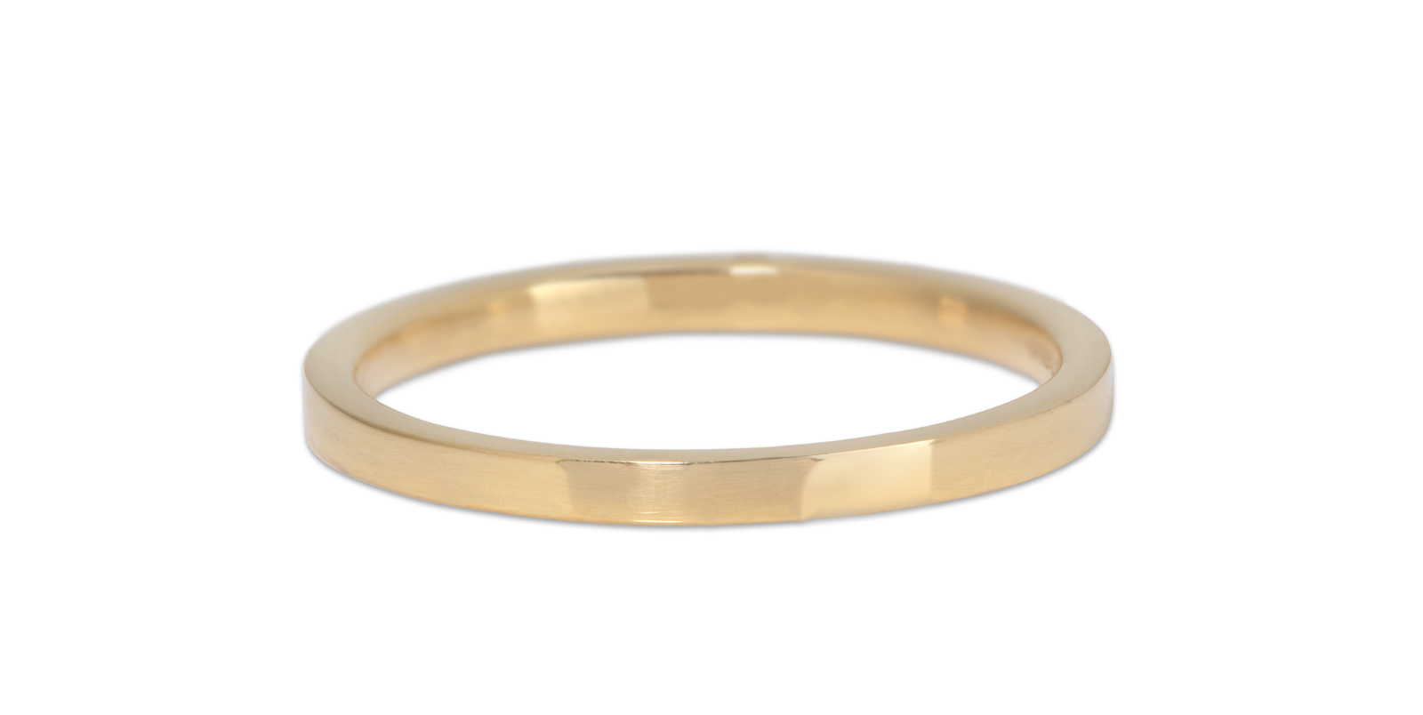 Comfort Fit Polished 18ct Yellow Gold Wedding Band 2mm