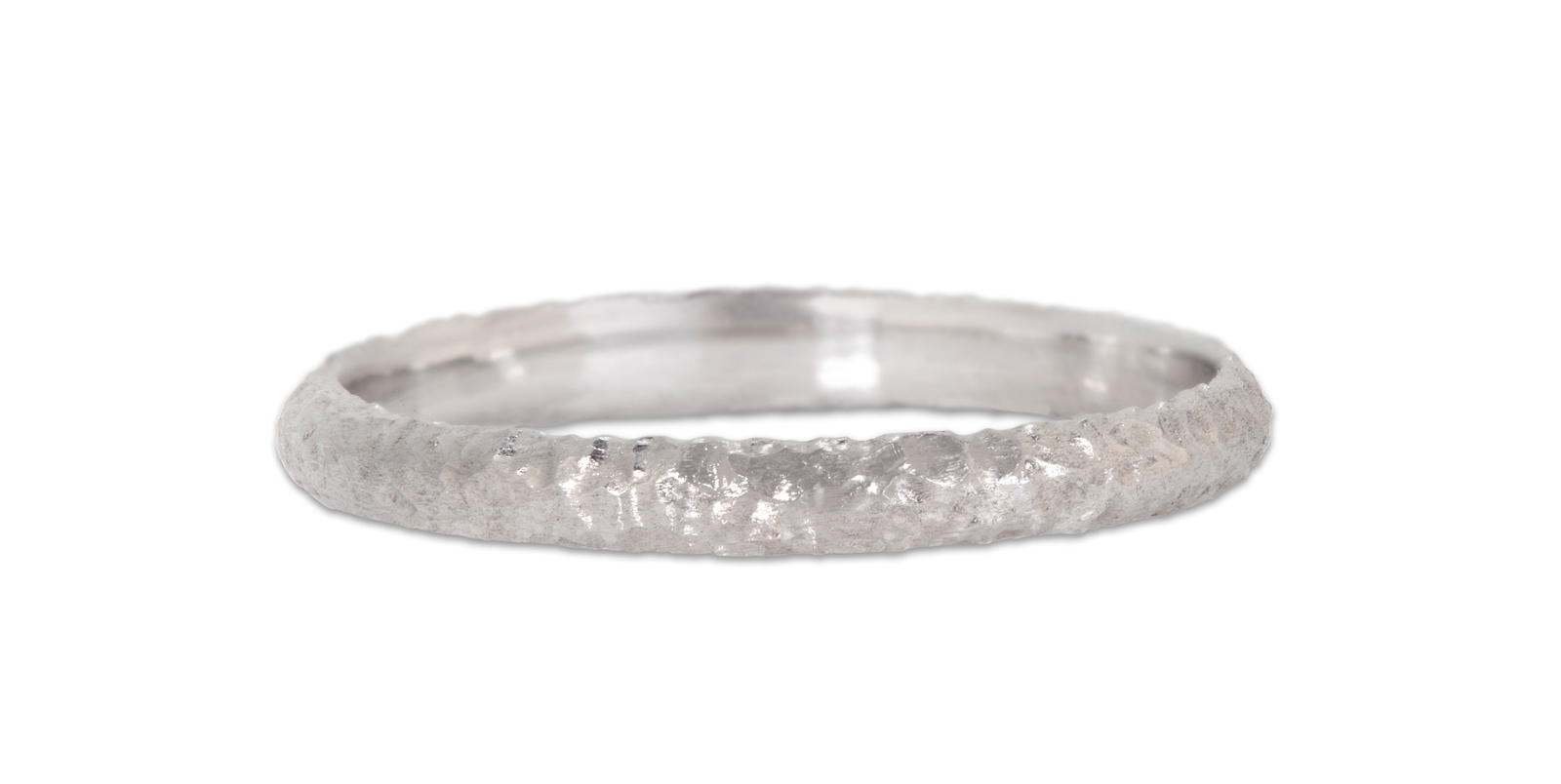 Textured Platinum Wedding Band 2mm