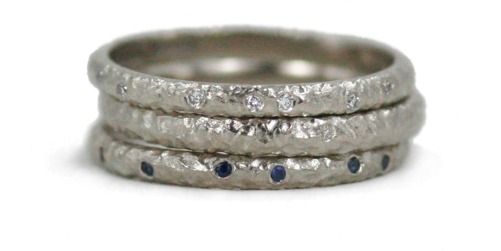 Textured Eternity Ring Stack