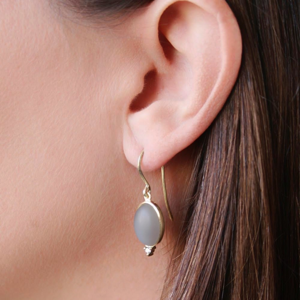 Moonstone Drop Earring