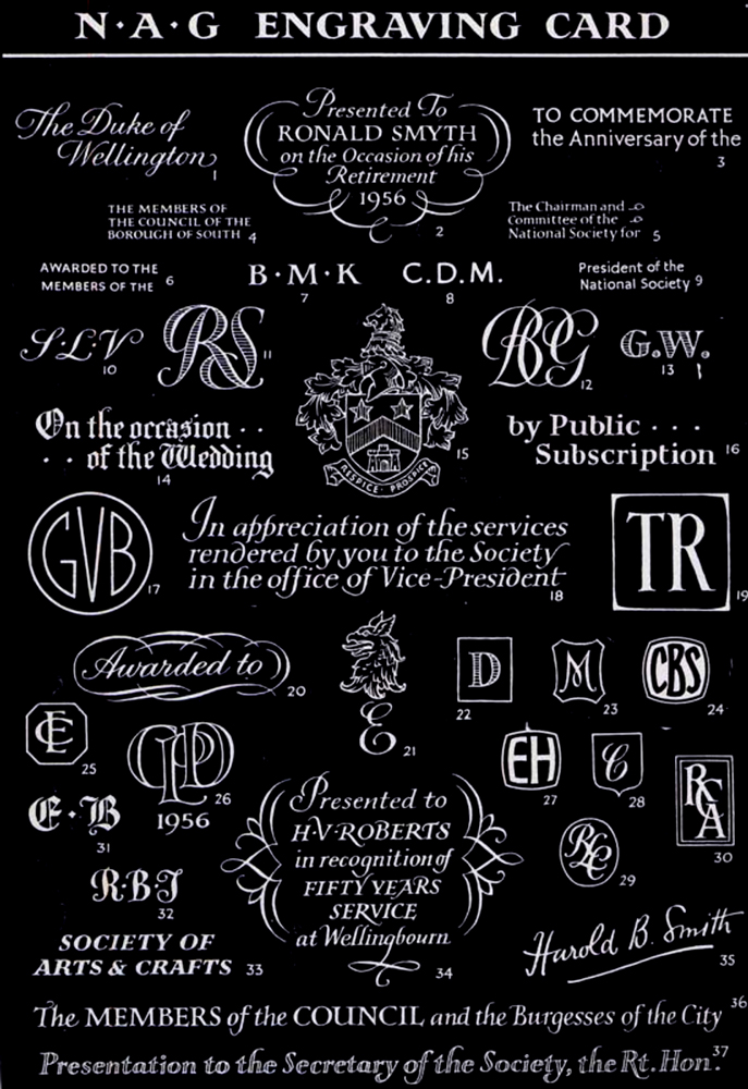 Personalised Engraving Card