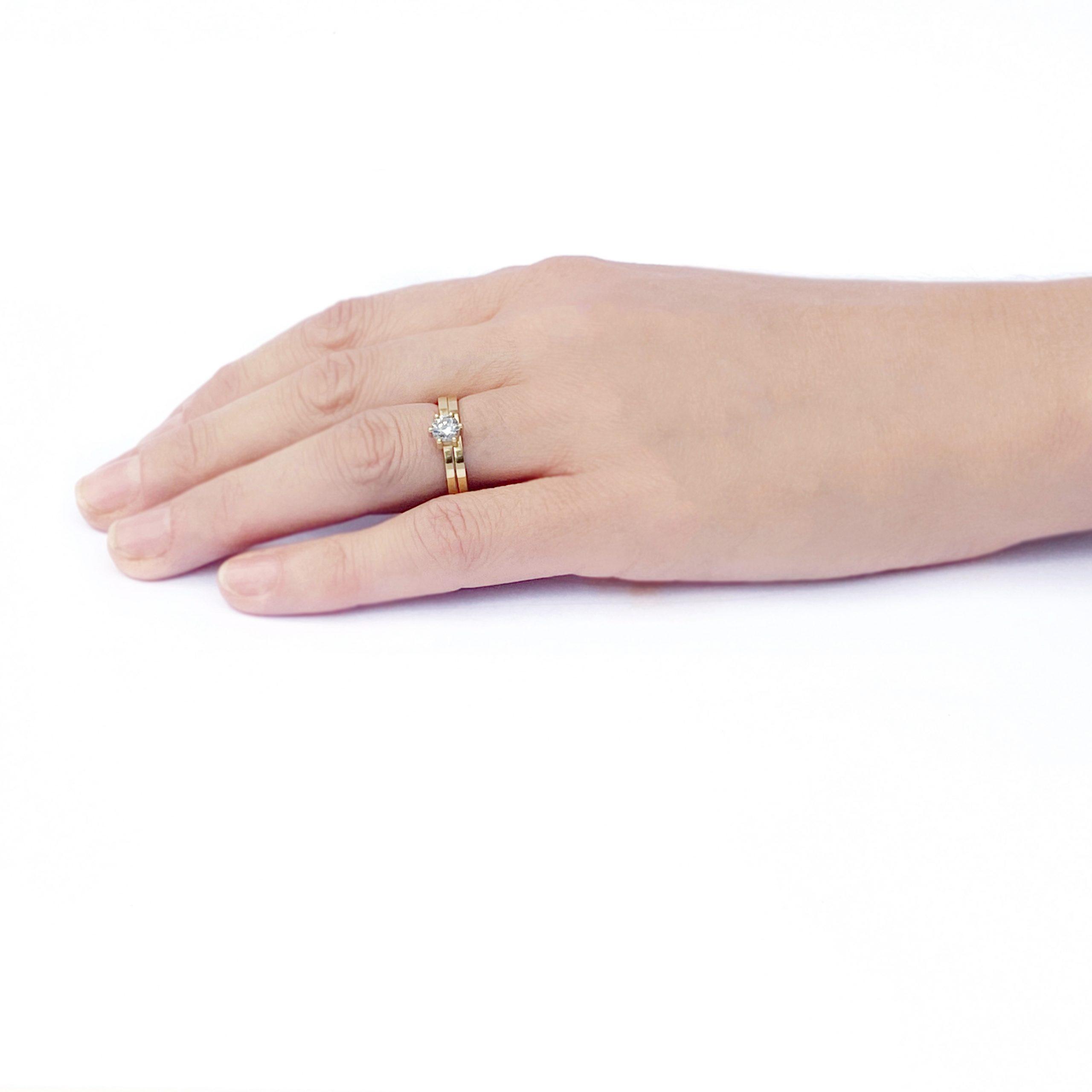 Kiss Diamond Engagement Ring .25ct