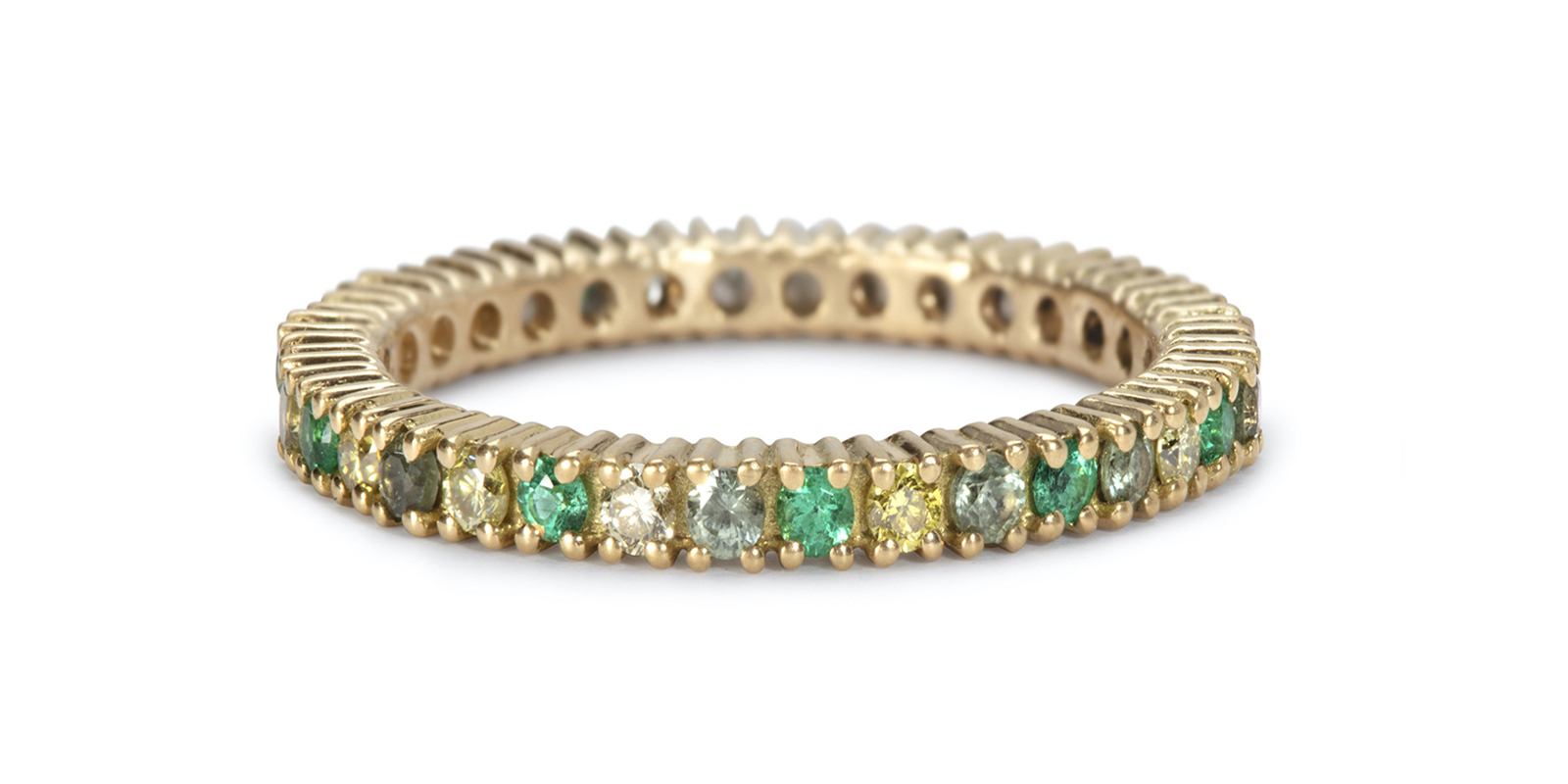 Rachelle's Emerald Eternity Ring