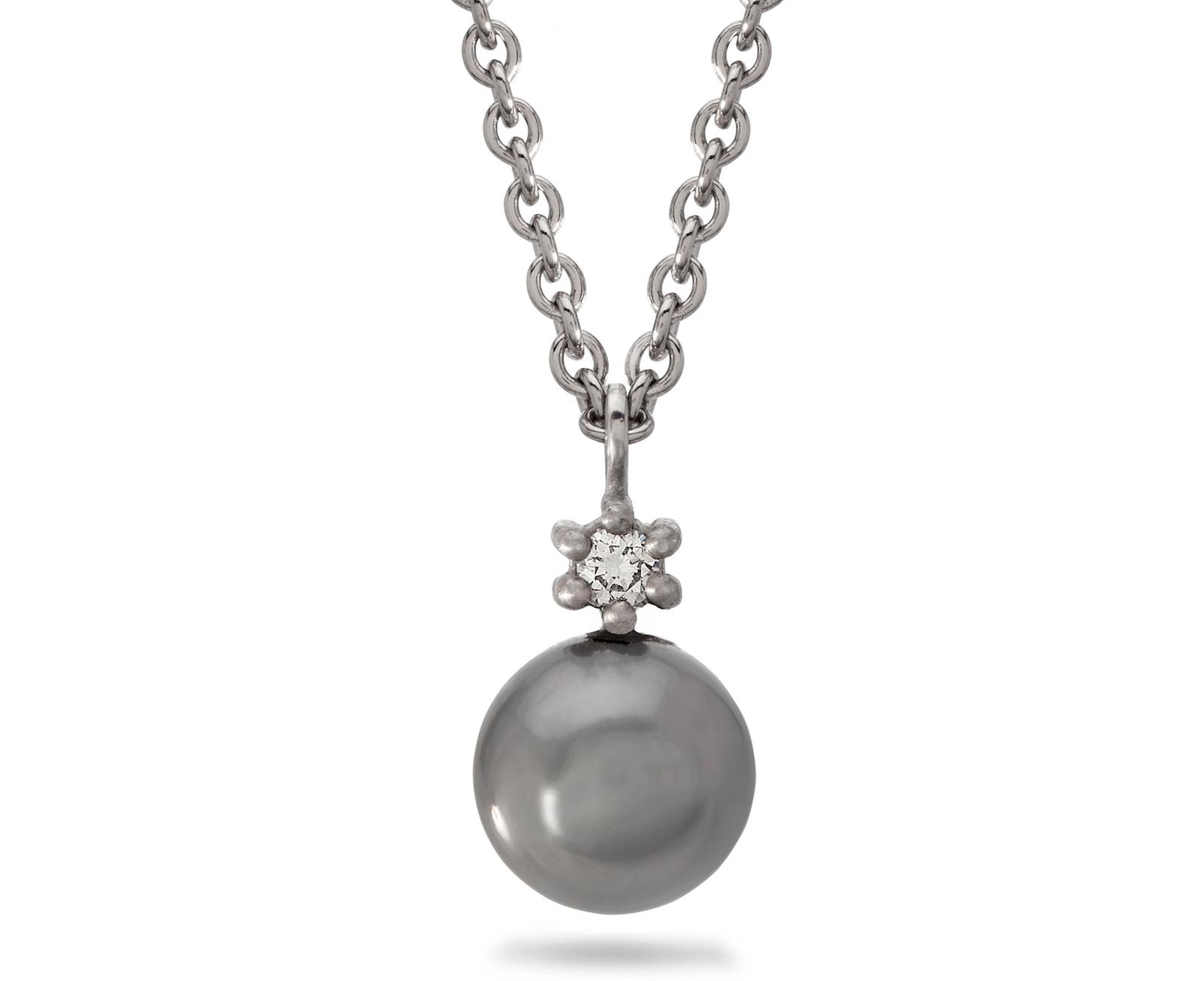 Dreamer Tahitian Pearl and Diamond Pendant