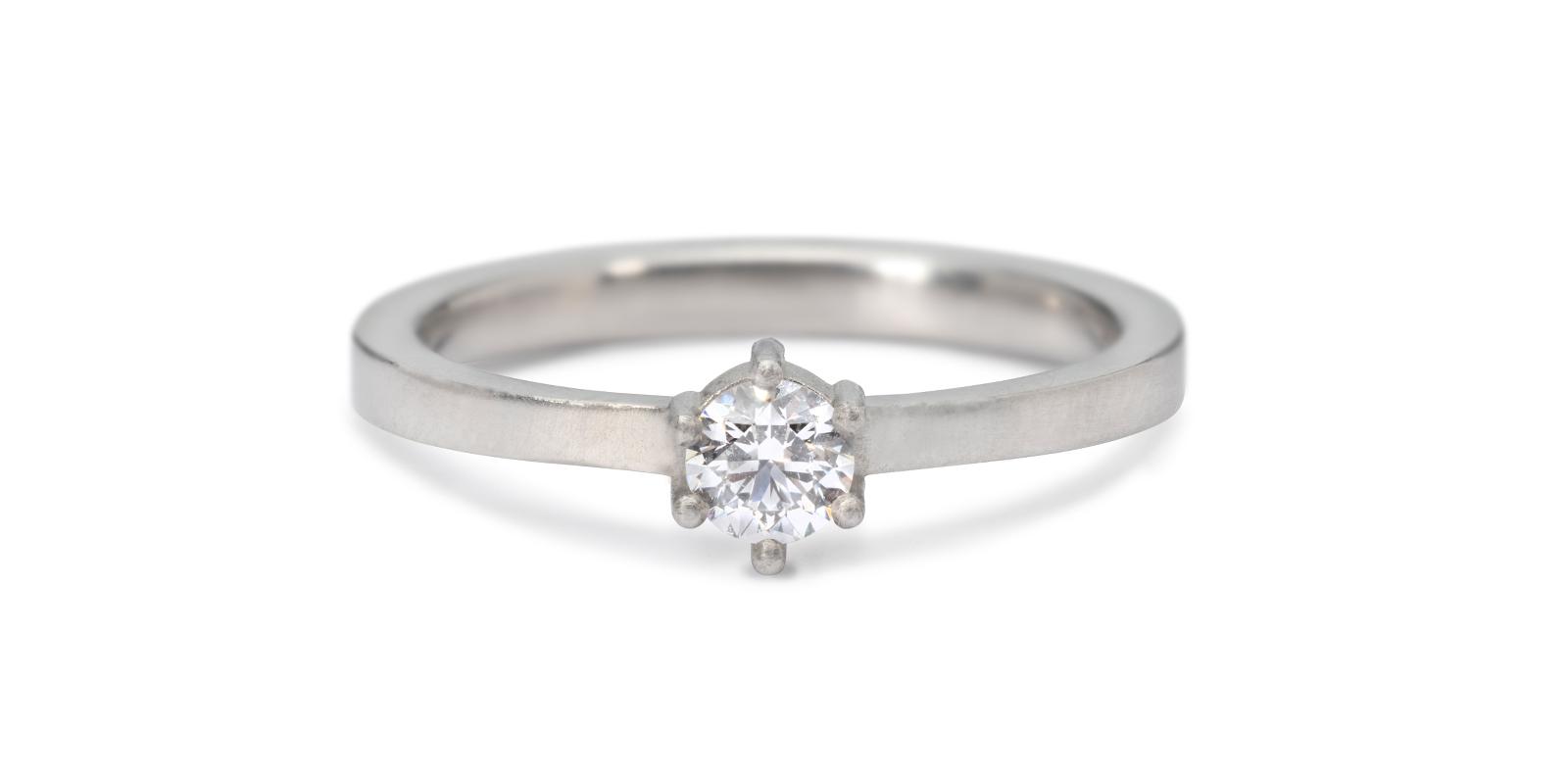 Kiss Platinum Diamond Engagement Ring .25ct