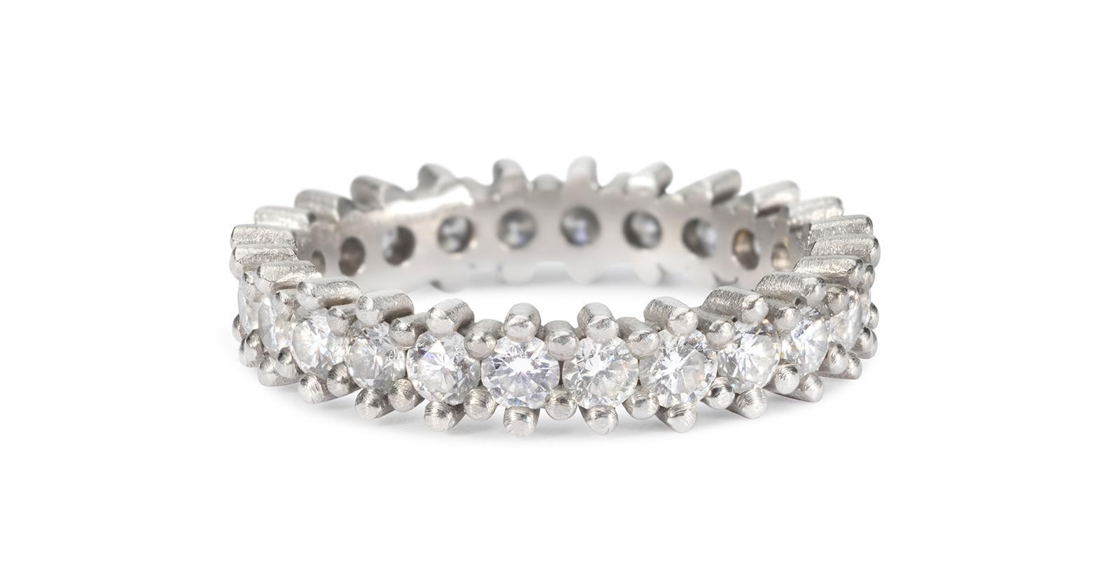Jasmine White Diamond Platinum Eternity Ring