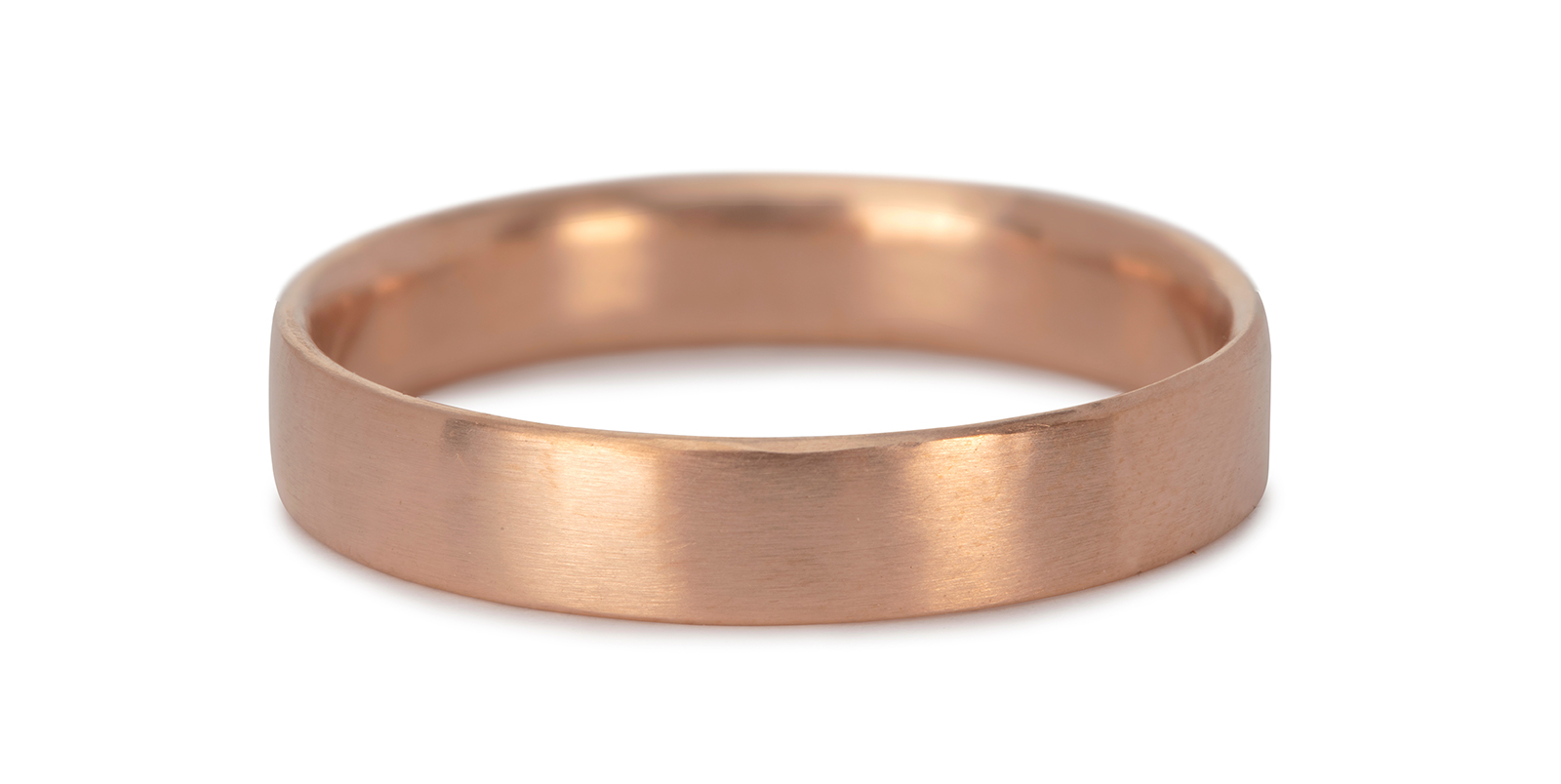 Comfort Fit 18ct Rose Gold Wedding Ring 4mm