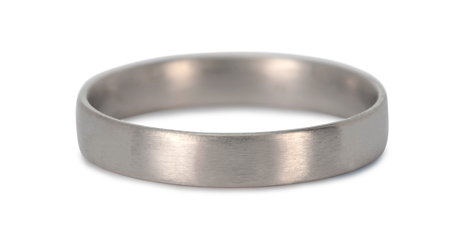 Comfort Fit 18ct White Gold Wedding Ring 4mm