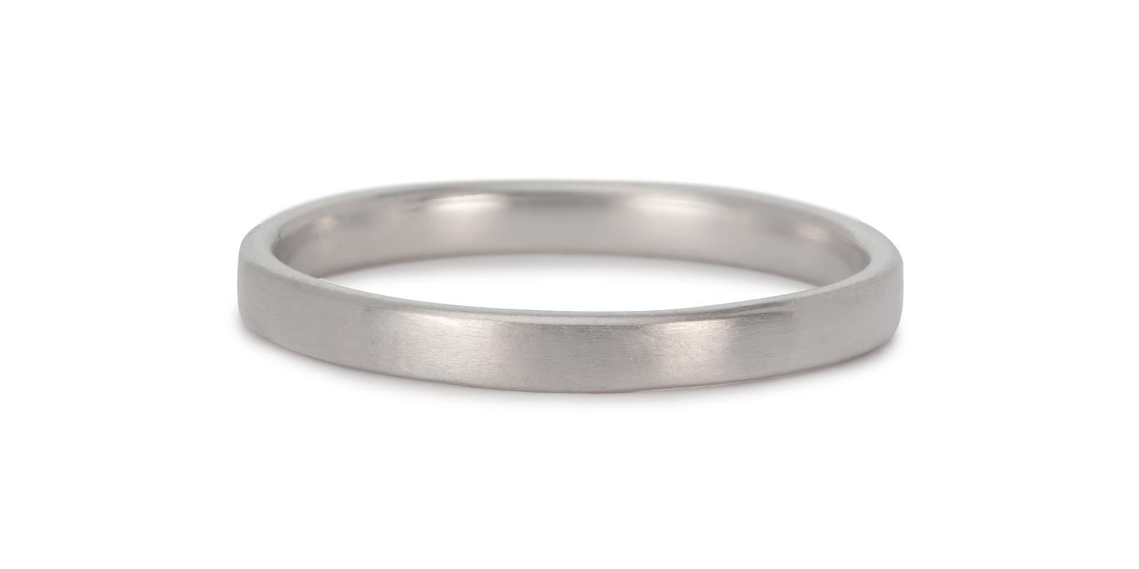Comfort Fit Platinum Wedding Band 2mm