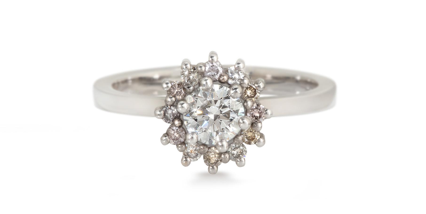 Juliet Platinum Diamond Engagement Ring