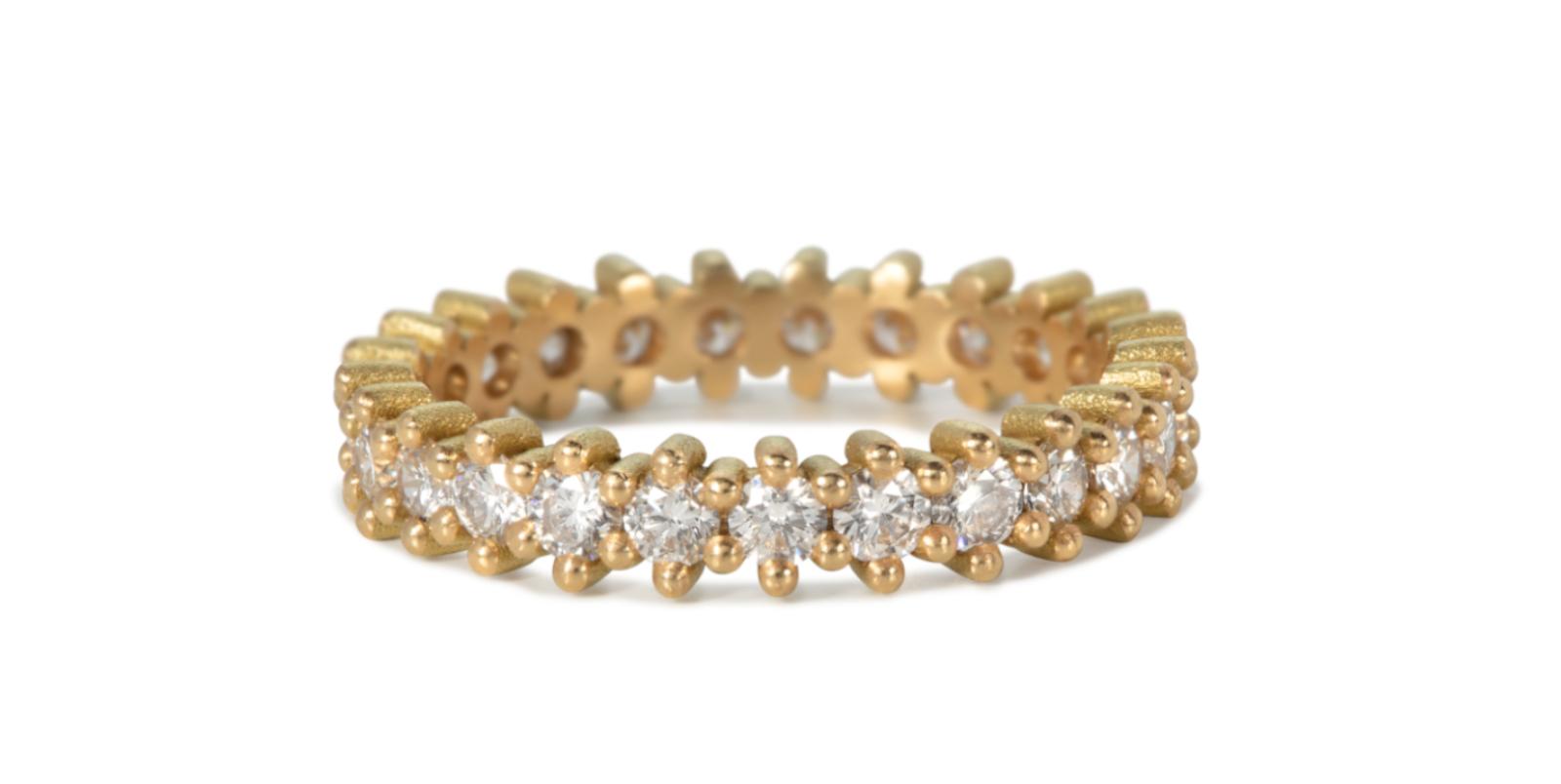 Jasmine White Diamond 18ct Gold Eternity Ring